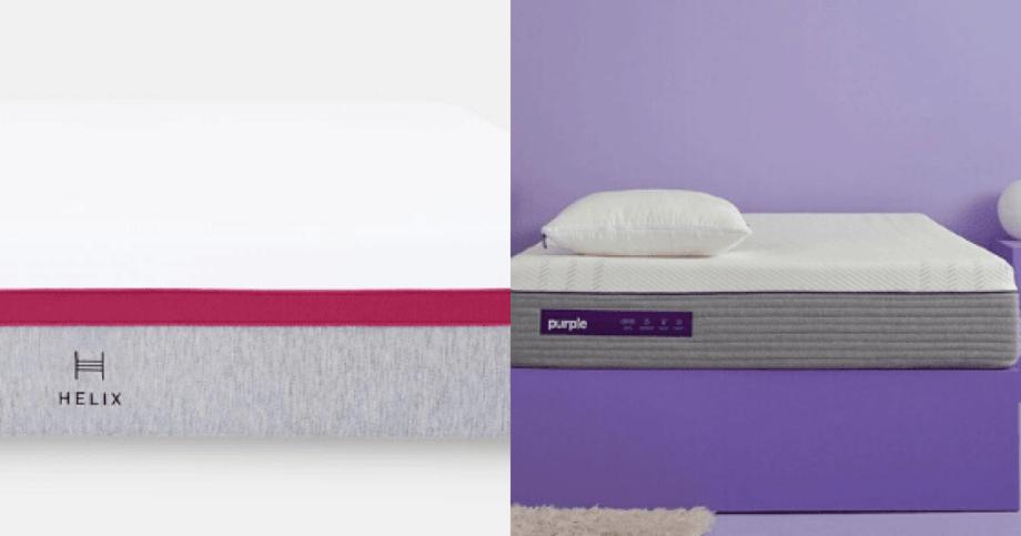 Helix Vs Purple Mattress 2021 The Mattress Nerd